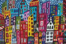 város építés , házak