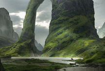 art fantasy environment scenes