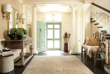 Hallways and Doorways / Step into your dream entryway. A doorway is essential to creating a good curb appeal; once you step inside your gorgeous doorway it is important that the hallway matches up to the door which you entered. From bespoke carved wooden frames to sleek glass entrances, find your dream entryway here. #welcomehome
