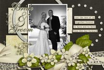 Wedding scrapbooking pages