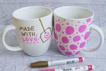 Mug with a sharpie