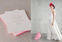 Colorful Wedding Ideas / Modern wedding inspiration with a pop of color, destination wedding, wedding details, bold color wedding style