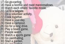 Date ideas/love stuff