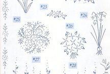 wzory haftu płaskiego