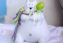 игрушки-шитье зайцы