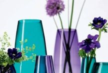 purple and teal decor