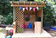 Out Door Play Spaces / Our kids love their own places to play where they don't always have to pick up their creative adventures.