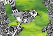 Zentangle nature inspiration / by Caitlin Fisher