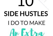Side Hustles / Tips, tricks and hacks for making extra money, how to make money online tips, how to start a blog and business planning. #sidehustles