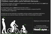 Here's a thought / A selection of graphic postcards looking at benefits of the HK One helmet and why we love it!