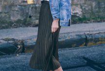 Spódnica midi + płaskie buty