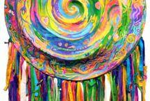 elementary art - circles, spirals, mandalas / by Laine Van
