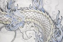 Dragon art tattoo