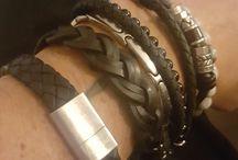 pulseiras em pele