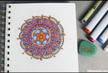 How To Draw and Color Mandalas / Learn how to draw mandalas