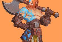 Cartoon Barbarian/Warrior