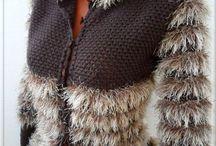 Вязание из пряжи- травки