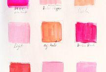 The Shades of Pink / Blush, Bashful, Rouge, & Rose