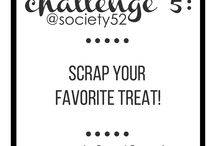 week 5 - create a project around your favorite treat / scrap a photo of your favorite treat...