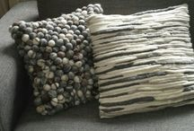 FELTED PILLOW COVER