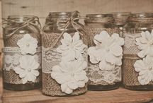 Burlap and Lace Party Details