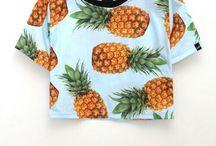 roupas com estampas de frutas
