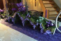 Christmastable purple christmas decorations kerstmis / Kersttafel 2014 - dit jaar thema paars - twee frames gemaakt - prachtig resultaat