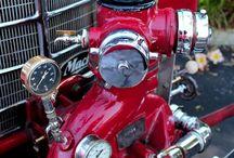 Fire Apparatus / Motorized and not - Fire apparatus, fire appliance, fire trucks.
