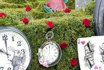 """Alice im Wunderland Babyparty / Eine Babyparty kann märchenhaft gestaltet werden - mit süßen Deko-Ideen inspiriert von dem Kinderbuch Klassiker """"Alice im Wunderland""""."""