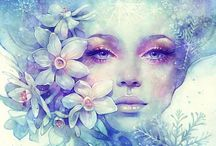 womens watercolors