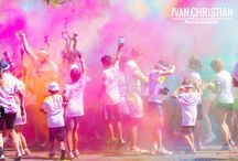 Colour Run / A selection of photos from the Sydney Colour Run a 2014 t Homebush Bay.