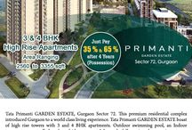 Tata Primanti Garden Estate / Tata Primanti Garden Estate is a premium residential development of 36 acres with planned greens and wooded parks. It Offers 3, 4 & 5 BHK apartments & penthouses with world class features & modern amenities.