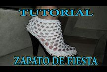 x zapato en crochet
