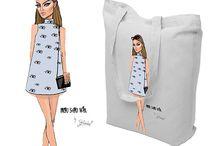 Nowe projekty na torby stworzone przez blog Izusiowa / #torbyznadrukiem #izusiowa #allbag #wadowice