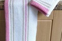 dishcloths towels pots bowls ect