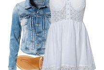 джинсовка с платьем
