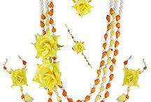 Latest Indian Bollywood Deepika Padukone Inspired Mehandi Haldi Jewellery Set