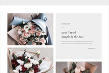 flowers e-shop moodboard