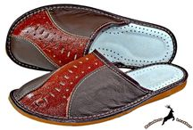Mens Leather House Slipper