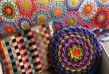 Almofadas em crochet