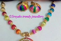 multi colour thread jewel