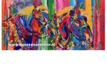 Schilderijen / Kleurrijke dierenschilderijen Mir