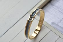 Whistle + Bango / How to style your personalised embossed enamel bangles