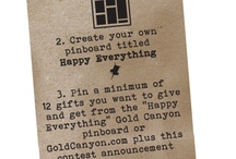 Happy Everything / #gift #gold canyon / by Jenny Rhodes