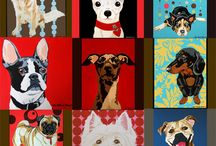 Dog paintings / by Cathy Agricola