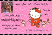 Hello Kitty in Paris Party / Ideas for planning a sweet yet sophisticated Parisian-inspired Hello Kitty birthday party