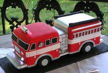 Tűzóltó autó torta