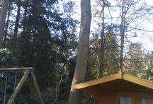 Tuinhuis restauratie / Restauratie van tuinhuisje, vervangen van dak door een pannendak