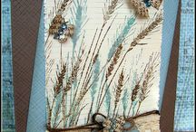 One stamp - Silhouette Grass / These cards are all made with a stamp from Hero Arts called 'Silhouette Grass' (S5316)