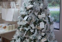 Festival of Trees / christmas trees decorated using our creative packaging